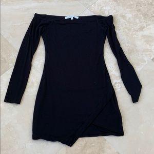 Black over shoulder dress